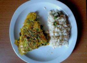 brouillade de blettes et son riz